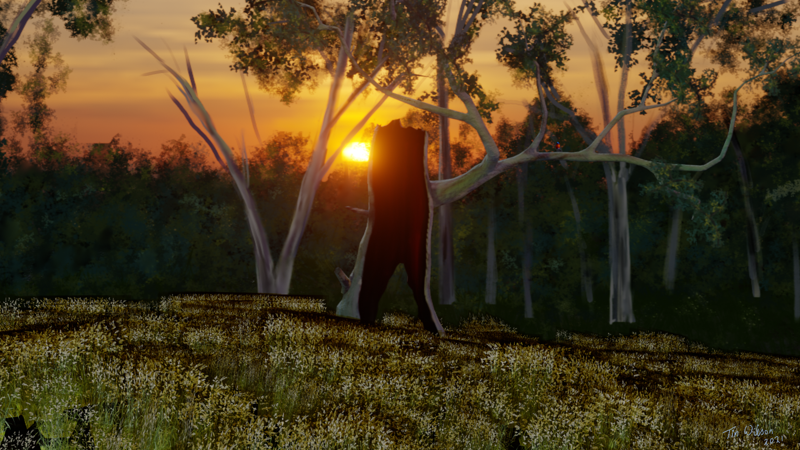 Surviving Another Day - A digital media painting by Tim Wilson 2021